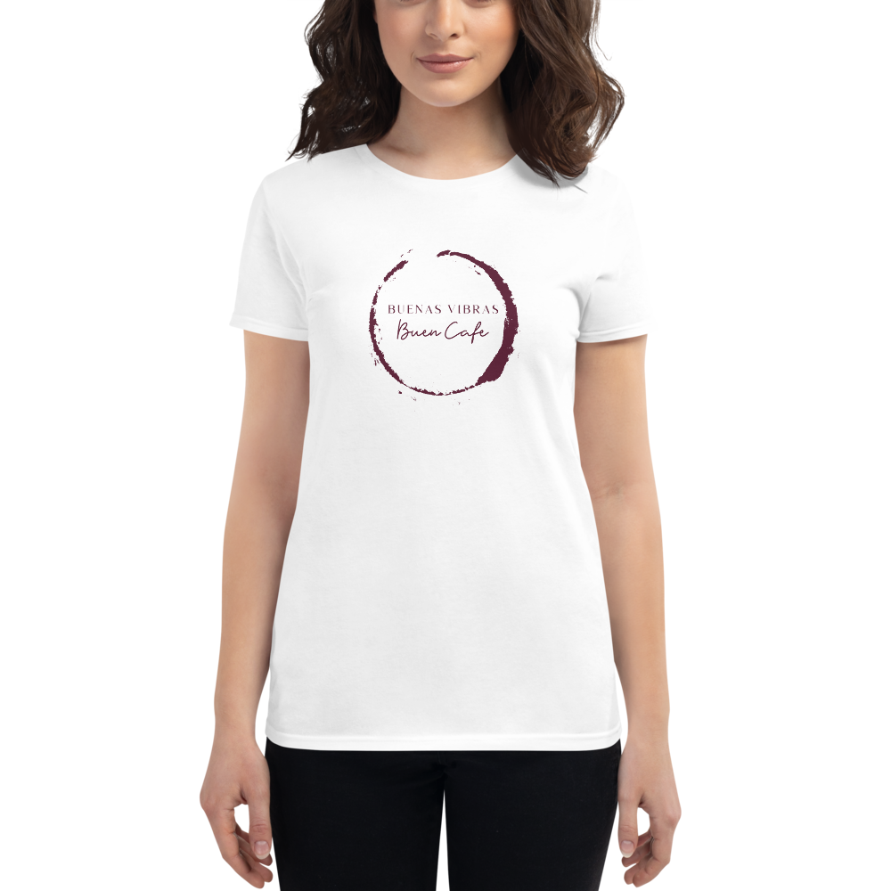 Buenas Vibras, Buen Cafe Women's short sleeve t-shirt | Tshirt | Great Latin Clothing