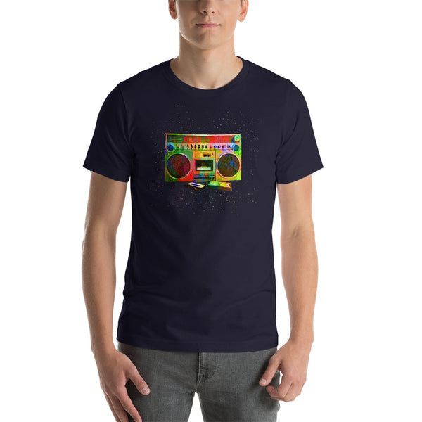 Boombox Abstract Short-Sleeve Unisex T-Shirt | Mens Fashion | Guys Clothing Only