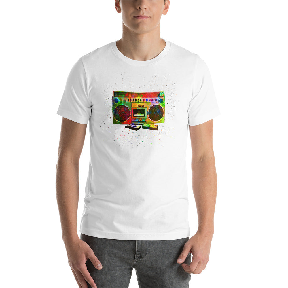 Boombox Abstract Short-Sleeve Unisex T-Shirt | Tshirt | Great Latin Clothing