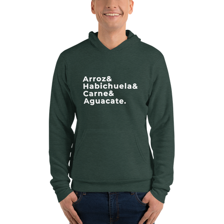 Arroz Habichuela Carne Aguacate |  Dominican Hoodie - Great Latin Clothing