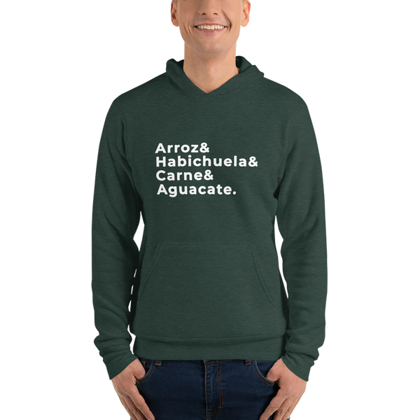 Arroz Habichuela Carne Aguacate |  Dominican Hoodie | Mens Fashion | Guys Clothing Only