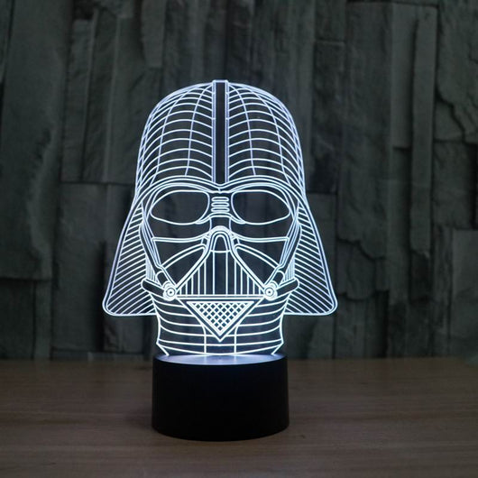 LAMP - 3D Illusion star wars lamp