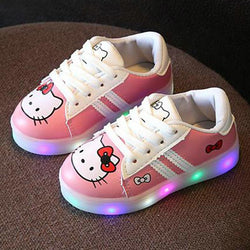 Kids Shoes With Light Chaussure HiKitty