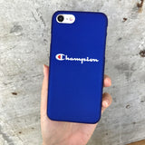 Cases For iPhone 5 5S SE 6 6s 7 Plus Case Fashion Black Blue Champion Plastic For iPhone 7 Mobile Phone Cover Case