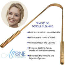 Load image into Gallery viewer, AllOne Wellness | Pure Copper Antimicrobial Tongue Cleaner - Tongue Scraper /w Handle,Colin Traquair