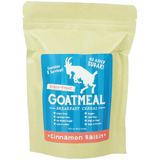 Goatmeal - Grain-free Breakfast Cereal - Original & Cinnamon Raisin 225g,Colin Traquair