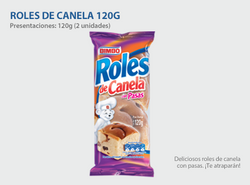 BIMBO ROLES OF CINNAMON 120G.