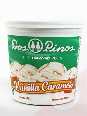 DOS PINOS ICE CREAM VANILLA CANDY 1/2GAL.