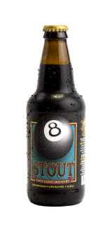 BEER LOST COAST BREWERY 8 BALL STOUT 12OZ.