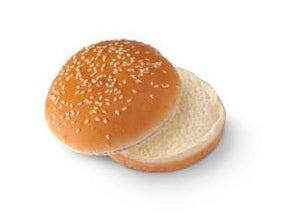BAMBOO HAMBURGER BUNS 4 PIECES 350G.
