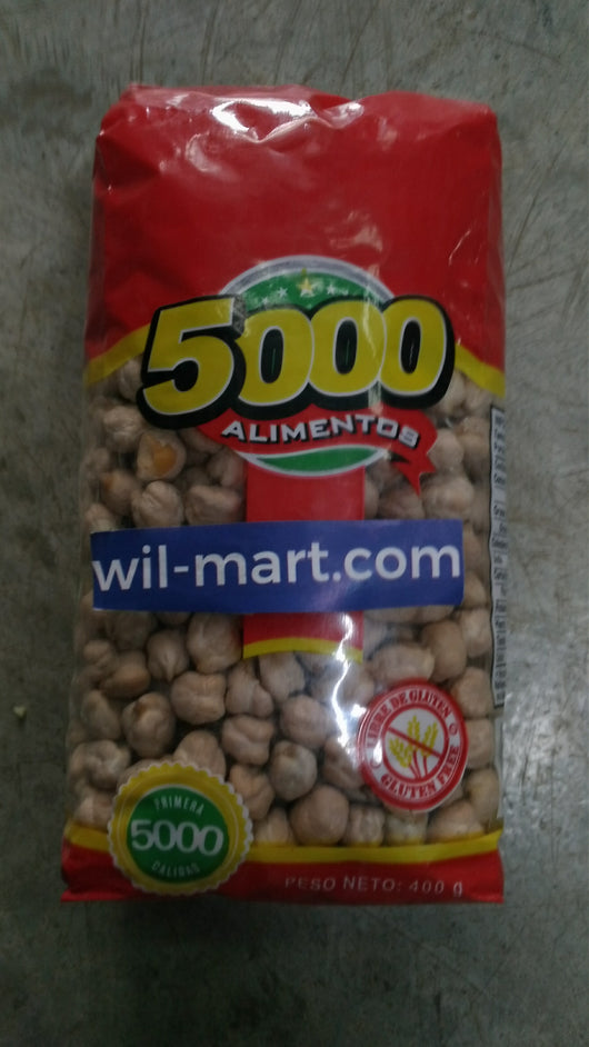 5000 GARBANZOS 400G.