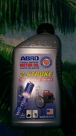 ABRO MOTOR OIL 2-STROKE 946ML.