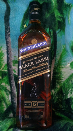 JOHNNIE WALKER BLACK LABEL 1LT.