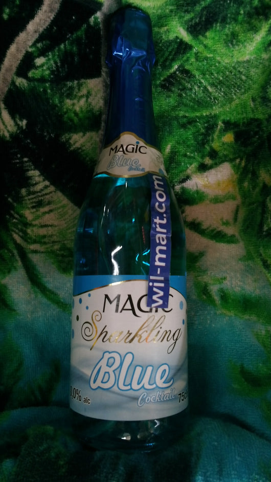 Magic Sparkling Blue Cocktail