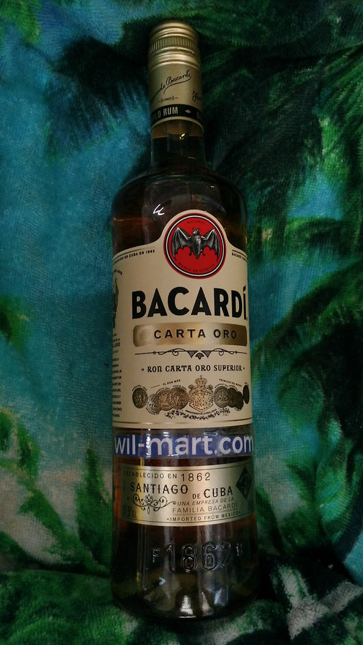 Ron Bacaradi Carta Oro 750ml