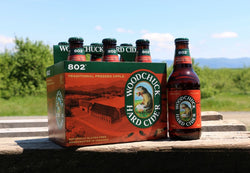 WOODCHUCK CIDER 802 TRADITIONAL PRESSED APPLE 355ML. 6PACK