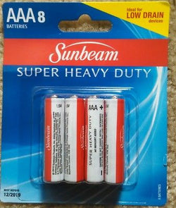 BATTERY SUNBEAM AAA 8 PACK