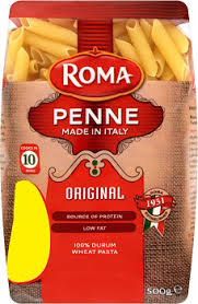 ROMA PASTA PENNE RIGATE 250G.