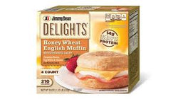 ENGLISH MUFFINS HONEY WHEAT 340G.