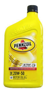 PENNZOIL MOTORCYCLE OIL 20W-50 946ML.