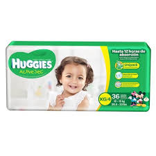 HUGGIES ACTIVE SEC XG/4 10U.