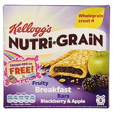 KELLOGG'S NUTRI-GRAIN APPLE 222G.