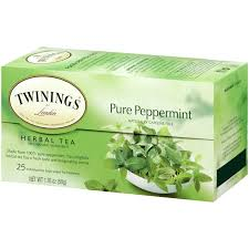 TE TWININGS PURE PEPPERMINT 25U.