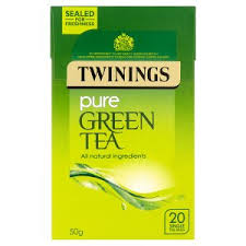 TE TWININGS PURE GREEN TEA 50G.