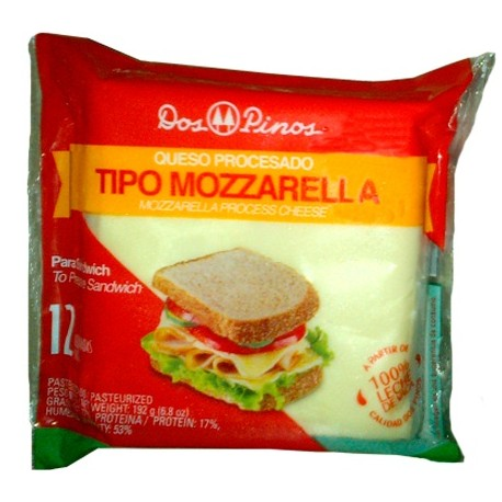 DOS PINOS CHEESE PROCESSED MOZZARELLA  8  SLICES