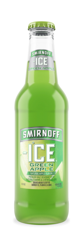 BEER SMIRNOFF ICE GREEN APPLE 350ML.