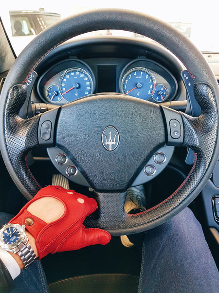Driving Gloves Racing Red Frederik Hector - Alfa romeo driving gloves