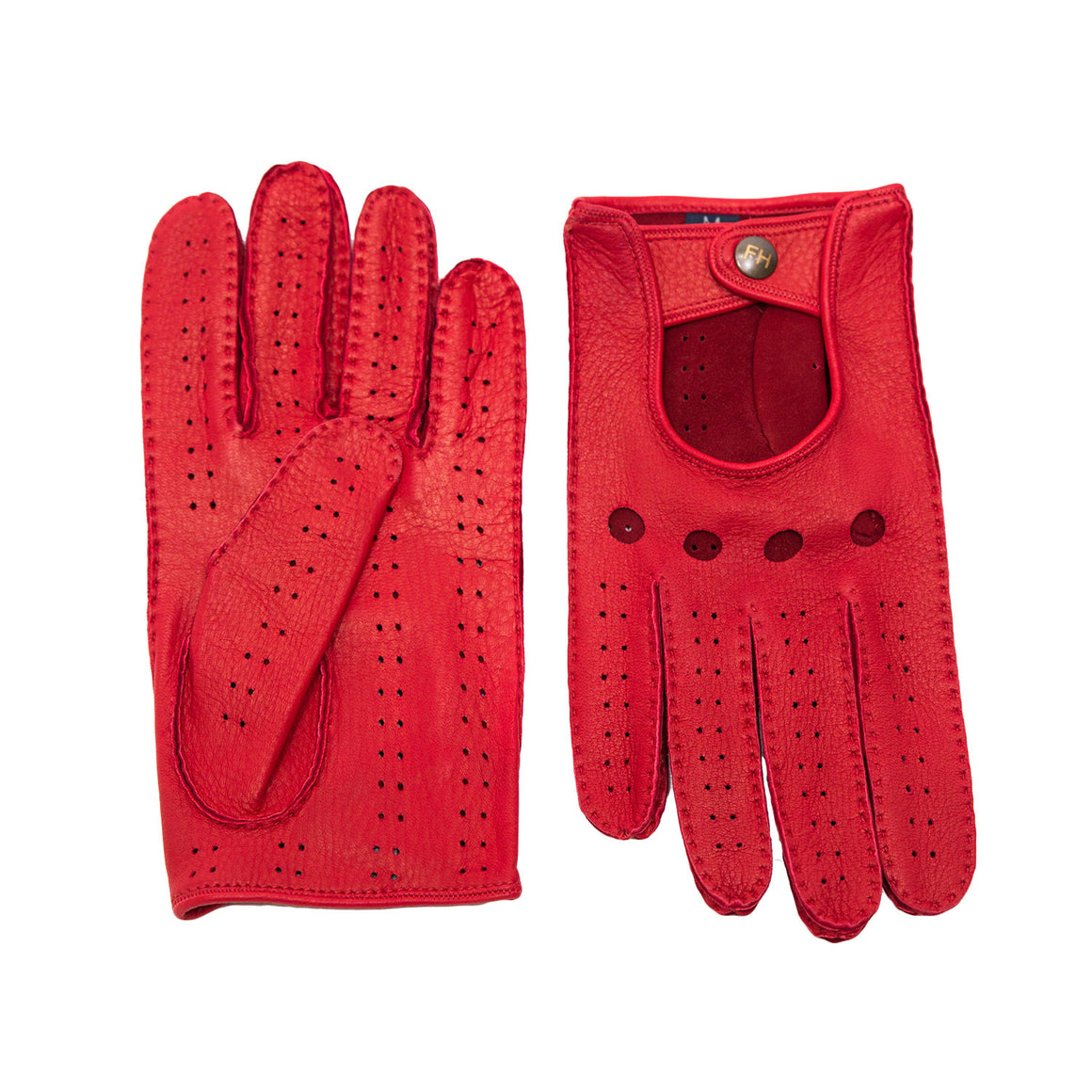 Driving Gloves - Racing Red