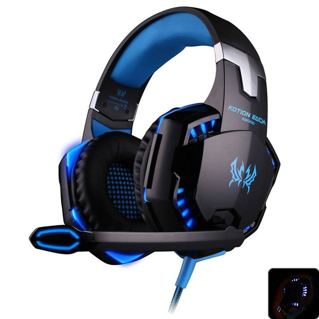 X-Bass Gaming Headset Headband Earphone with Light for Computer PC Gamer