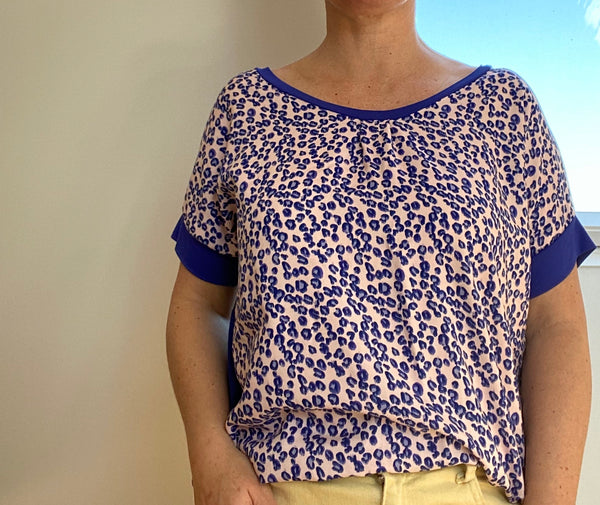 Top i Viscose med print