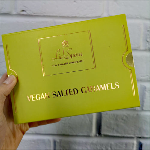 12 Vegan Salted Caramels by Lick the Spoon