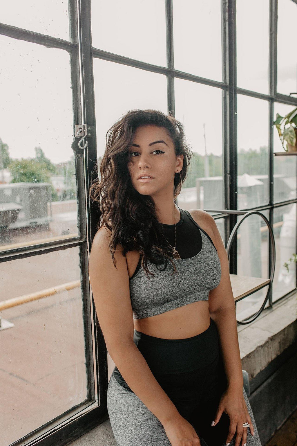 HEATHER GREY KNOCKOUT SPORTS BRA