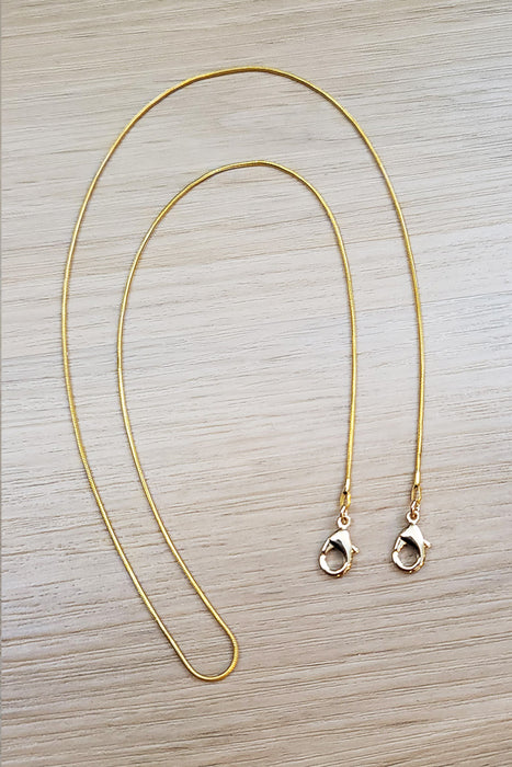 Gold Plated Snake Chain Lanyard