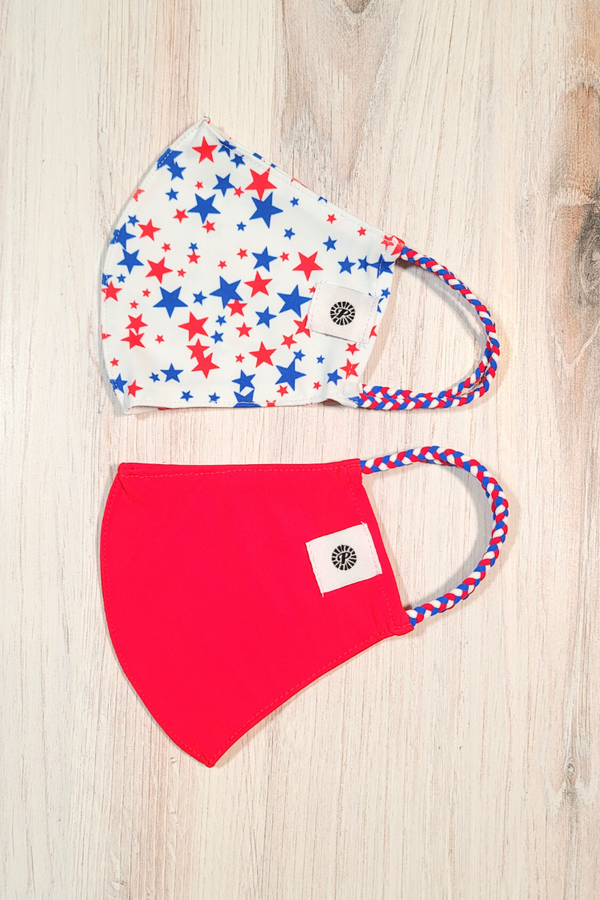 Liberty Stars Simple Masks- 2-Pack From PinkTag