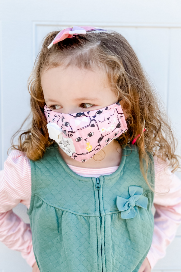 Pink Kitty Kids Premium Mask - Includes Filter