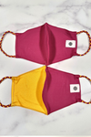 Burgundy & Yellow Gold Simple Masks- 2-Pack From PinkTag
