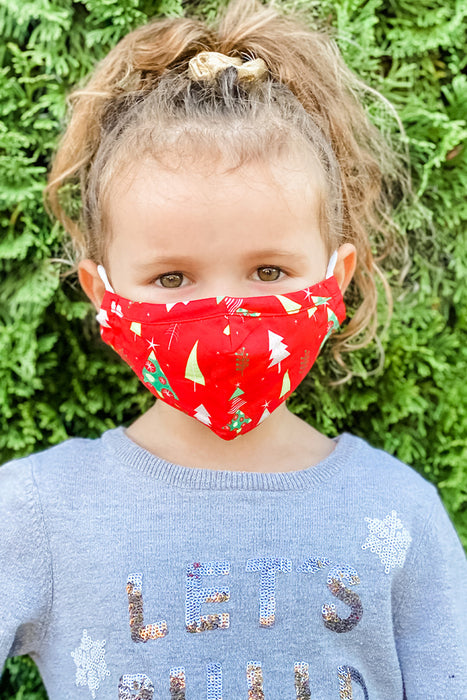 Red Christmas Essential Kids Mask