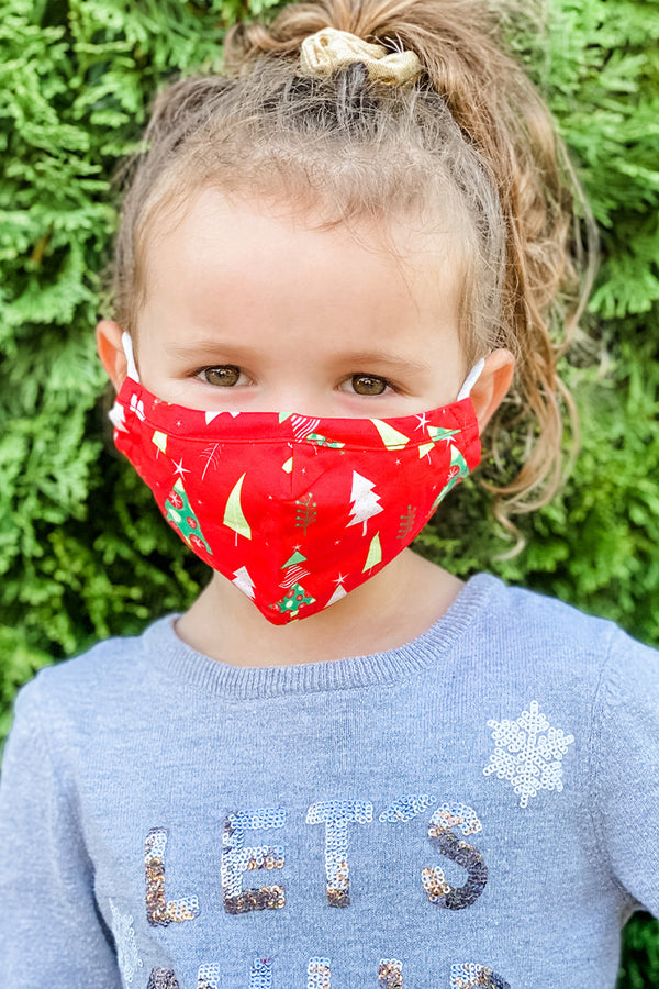 Christmas Tree Essential Kids Mask