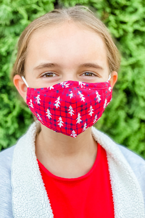 Red Jingle all the Way Essential Kids Mask