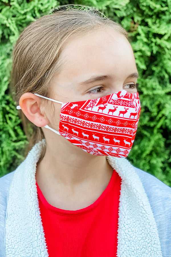 Reindeer Essential Kids Mask