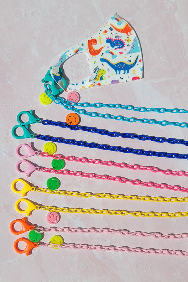 Multiple Colored Neon Chain Kids Lanyard