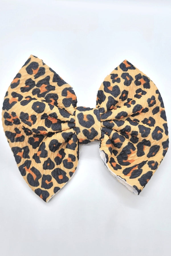 Sassy Bow- Brown Leopard