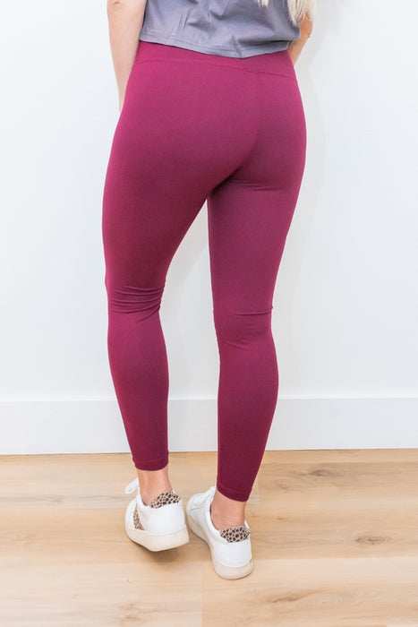 Butter Soft Leggings- Maroon