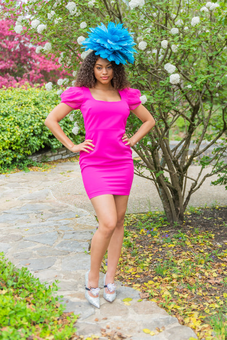 Gimme Glam Dress- Hot Pink