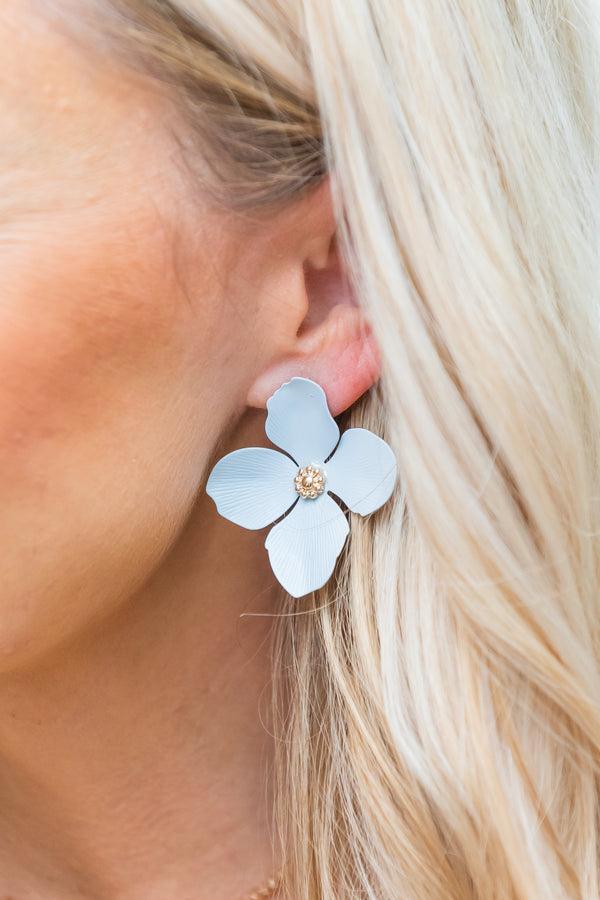 Pastel Matte Flower Earrings