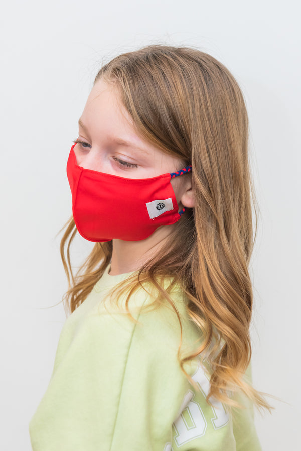 Kids Navy/Red Simple Masks- 2-Pack